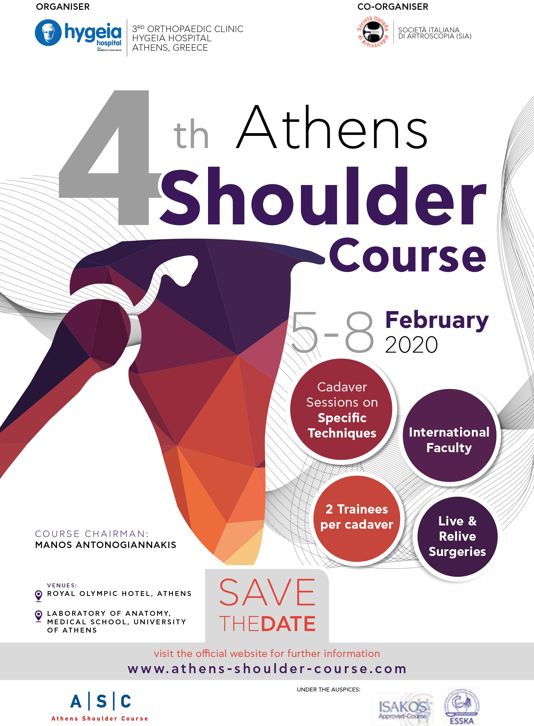 Save the Date SHOULDER COURSE